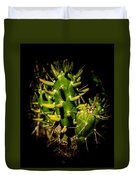 Small Green Cactus Duvet Cover
