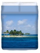 Small Palm Tree Covered Islands In Blue Duvet Cover