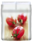 Small Tomatoes Duvet Cover by Elena Elisseeva