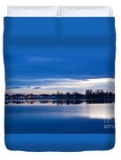 Small Town Reflections Duvet Cover