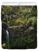 Small Waterfall - Hana Highway Duvet Cover