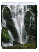 Small Waterfall Near The Milford Track Duvet Cover