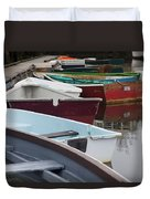 Small Wooden Boats Duvet Cover
