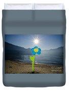 Smile Flower On The Beach Duvet Cover