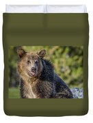 Smiling Grizzly Duvet Cover