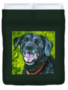 Smiling Lab Duvet Cover
