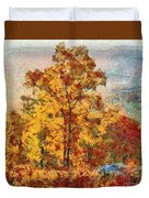 Smoke Tree In The Karst Duvet Cover
