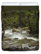 Smokey Mountain Stream No.326 Duvet Cover