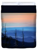Smokey Mountain Sunset As Seen From Clingman's Dome Duvet Cover