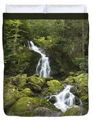 Smoky Mountain Waterfall - Mouse Creek Falls Duvet Cover
