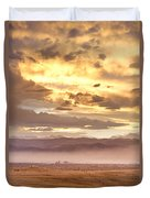 Smoky Sunset Over Boulder Colorado  Duvet Cover
