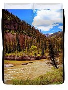 Snake River And Kayaker Duvet Cover