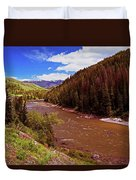 Snake River And Rafters Duvet Cover