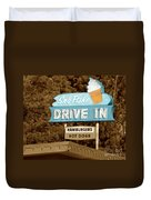 Sno-flake Drive In Lake Tahoe Duvet Cover