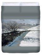 Snow Above Barbondale - Barbon Duvet Cover