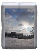 Snow At The Art Museum - Philadelphia Duvet Cover