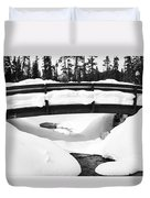 Snow Bridge In Canadian Rockies Duvet Cover
