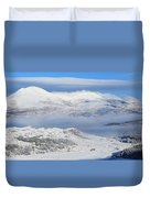 Snow Covered Landscape In Winter Near Duvet Cover