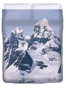 Snow-covered Mountains On Wienke Duvet Cover