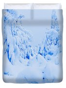 Snow-covered To Vallee Des Fantomes Duvet Cover