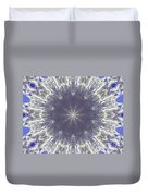 Snow Flake Crystal Duvet Cover
