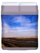 Snow Geese At Rest Duvet Cover