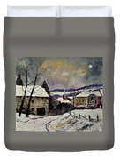 Snow In Gendron Duvet Cover