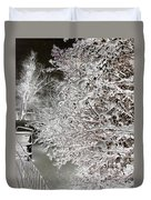 Snow Laden Branches II Duvet Cover