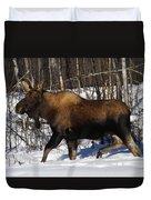 Snow Moose Duvet Cover
