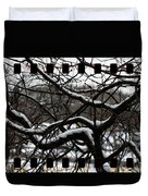 Snow On Branches Duvet Cover