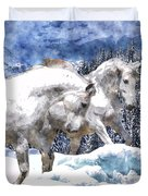 Snow Play Duvet Cover