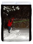 Snow Researcher Duvet Cover