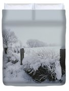 Snow, Rime Ice, And Fog Cover Duvet Cover