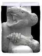 Snow Serpent Nagini Duvet Cover