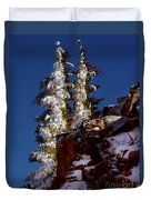 Snow Tipped Trees  Duvet Cover