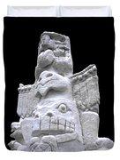 Snow Totem Pole Duvet Cover