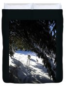 Snow Trail-under The Boughs Duvet Cover