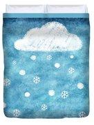 Snow Winter Duvet Cover