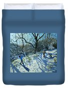 Snowball Fight Duvet Cover