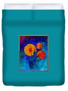 Snowball Plant Abstract 2 Duvet Cover