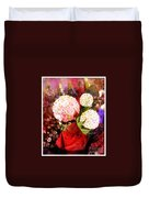Snowball Plant Abstract 4 Duvet Cover