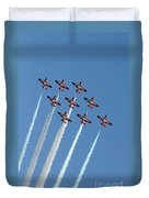 Snowbirds In The Big Diamond Formation Duvet Cover