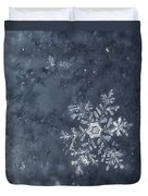Snowflake In Blue Duvet Cover