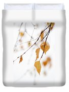 Snowing In Autumn Duvet Cover