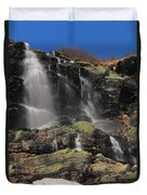 Snowmelt Waterfalls In Tuckermans Ravine Duvet Cover