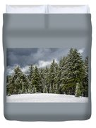 Snowstorm In The Cascades Duvet Cover