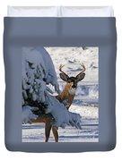 Snowy Buck Duvet Cover