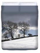 Snowy Field, Weardale, County Durham Duvet Cover by John Short