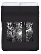 Snowy Forest Bw Duvet Cover