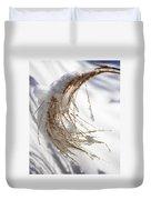 Snowy Fountain Grass Duvet Cover